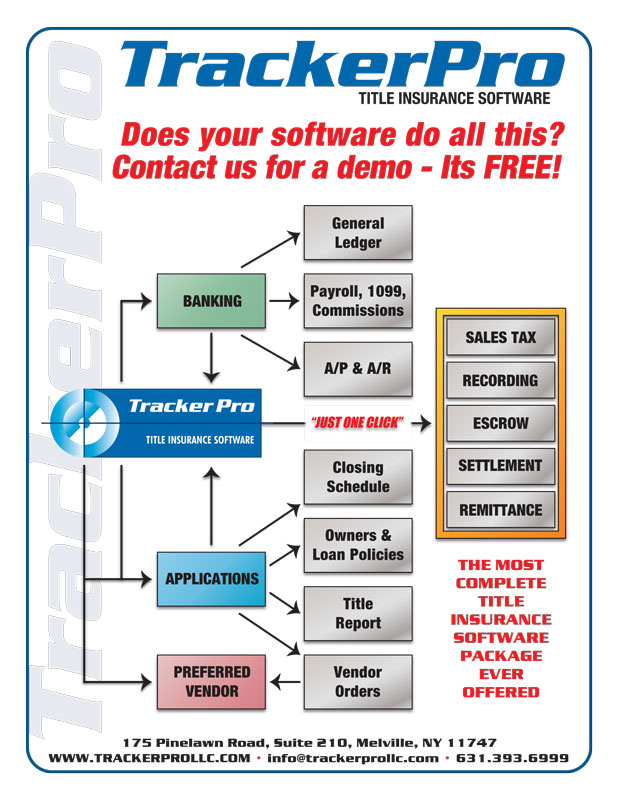 TrackerPro title insurance software features
